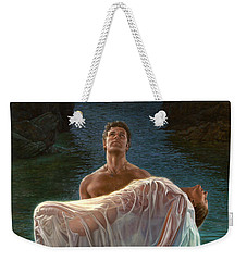 Weekender Tote Bag featuring the painting Resurrection by Mia Tavonatti