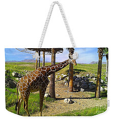 Weekender Tote Bag featuring the photograph Reticulated Giraffe by Chris Tarpening