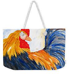 Rooster Weekender Tote Bag by Carlin Blahnik