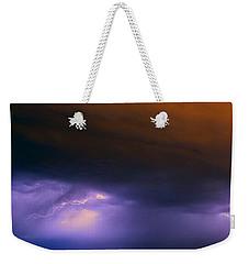 Round 2 More Late Night Servere Nebraska Storms Weekender Tote Bag