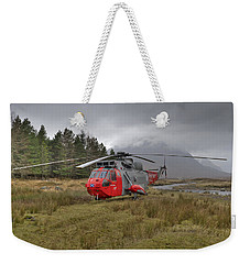 Royal Navy Sar Sea King Xz920 Glencoe Weekender Tote Bag by Gary Eason