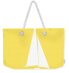 Sailboat In Yellow And White Weekender Tote Bag