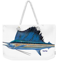 Sailfish Weekender Tote Bag by Carey Chen