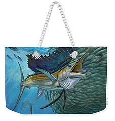 Sailfish With A Ball Of Bait Weekender Tote Bag