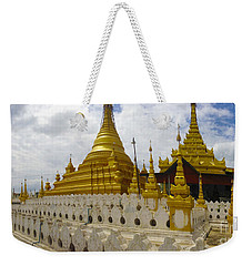 Weekender Tote Bag featuring the photograph Sandamuni Pagoda Mandalay Burma by Ralph A  Ledergerber-Photography