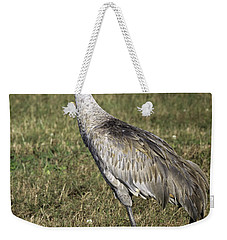 Sandhill Crane Weekender Tote Bag by Fran Gallogly