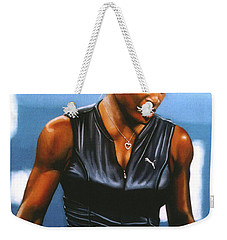 Serena Williams Weekender Tote Bag by Paul Meijering