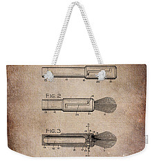 Shaving Brush Diagram 1920  Weekender Tote Bag