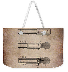 Shaving Brush Diagram 1920  Weekender Tote Bag