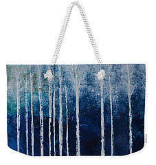 Weekender Tote Bag featuring the painting Shivver by Linda Bailey