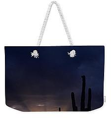 Silhouetted Saguaro Cactus Sunset At Dusk Arizona State Usa Weekender Tote Bag