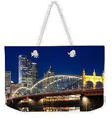 Smithfield Street Bridge Weekender Tote Bag by Emmanuel Panagiotakis