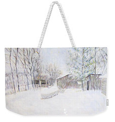 Snowy February Day Weekender Tote Bag