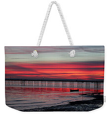 Southend Pier Sunset Weekender Tote Bag