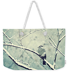 Sparrow On The Snowy Branch Weekender Tote Bag