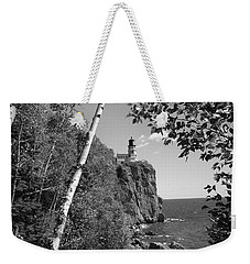 Split Rock Black And White Weekender Tote Bag