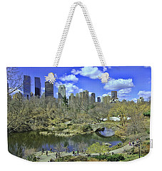 Springtime In Central Park Weekender Tote Bag by Allen Beatty