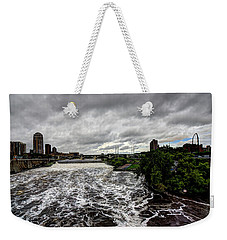 St Anthony Falls Weekender Tote Bag by Amanda Stadther