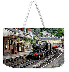 Weekender Tote Bag featuring the photograph Steam Train by Adrian Evans