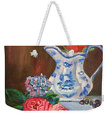 Still Life With Blue And White Pitcher Weekender Tote Bag