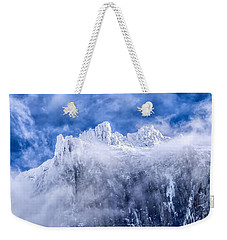 Weekender Tote Bag featuring the photograph Stone Cold by Aaron Aldrich