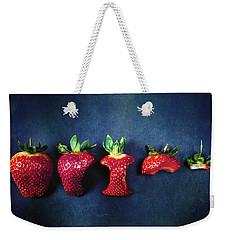 Strawberries Weekender Tote Bag by Joana Kruse