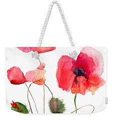 Stylized Poppy Flowers Illustration Weekender Tote Bag
