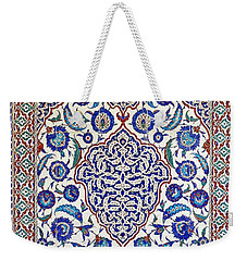 Sultan Selim II Tomb 16th Century Hand Painted Wall Tiles Weekender Tote Bag by Ralph A  Ledergerber-Photography