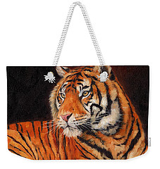 Sumatran Tiger  Weekender Tote Bag by David Stribbling