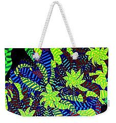 Weekender Tote Bag featuring the painting Summer Bloom by Jonathon Hansen