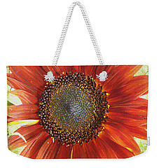 Weekender Tote Bag featuring the photograph Sunflower by Kathy Bassett