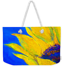 Sunflower In Blue Weekender Tote Bag