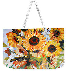 Sunflowers Weekender Tote Bag by Dorothy Maier
