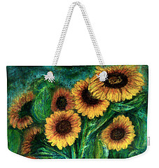 Sunflowers Weekender Tote Bag by Jasna Dragun