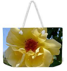 Sunny Yellow Rose Weekender Tote Bag