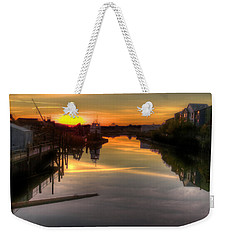 Sunrise On The Petaluma River Weekender Tote Bag by Bill Gallagher