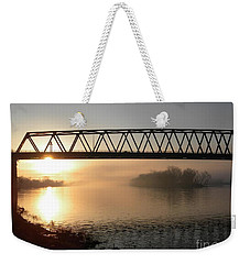 Sunrise Over The Ohio Weekender Tote Bag