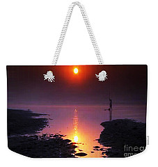 Sunset At Ganga River In The Planes Of Provinces Weekender Tote Bag