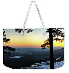 Sunset Atop Snowy Mt. Nebo Weekender Tote Bag by Jason Politte