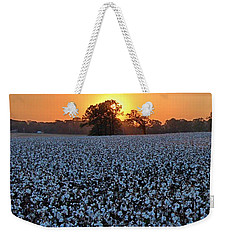 Sunset Over Cotton Weekender Tote Bag
