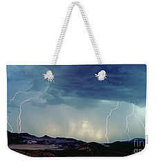 Weekender Tote Bag featuring the photograph Superior Copper Mine by J L Woody Wooden