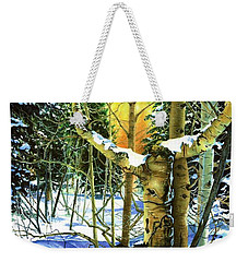 Weekender Tote Bag featuring the painting Supplication-psalm 28 Verse 2 by Barbara Jewell