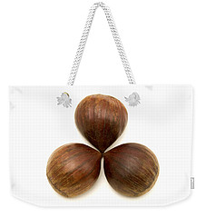 Sweet Chestnuts Fruits Weekender Tote Bag by Fabrizio Troiani