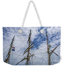 Weekender Tote Bag featuring the photograph Tall Ship Mast by Dale Powell