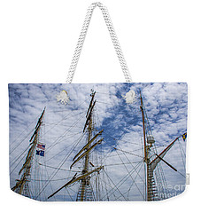 Tall Ship Three Mast  Weekender Tote Bag by Dale Powell