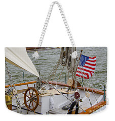 Tall Ship Wheel Weekender Tote Bag by Dale Powell