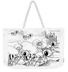 Weekender Tote Bag featuring the drawing Tammy In Polynesia by Reynold Jay