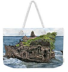 Tanah Lot Temple Bali Indonesia Weekender Tote Bag