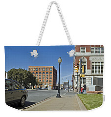Weekender Tote Bag featuring the photograph Texas School Book Depository by Charles Beeler