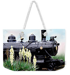 The Black Steam Engine Weekender Tote Bag
